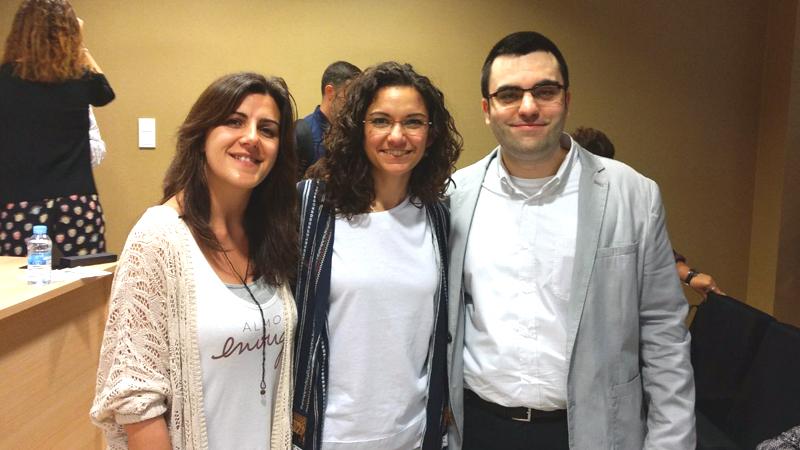 Silvia (Creative Nurse) con Maria José y Enrique (Chuletas Médicas)