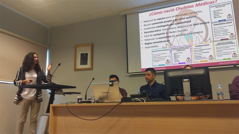 Maria José Fortuny (Doctora Fortuny) hablando de Chuletas Médicas en #Gandia20