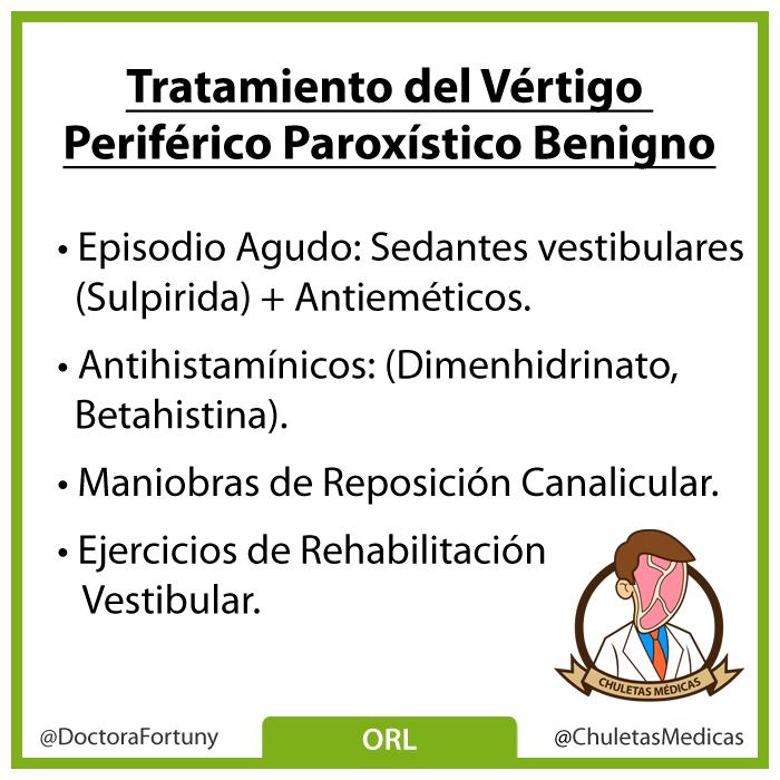 Tratamiento del Vértigo Periférico Paroxístico Benigno chuleta