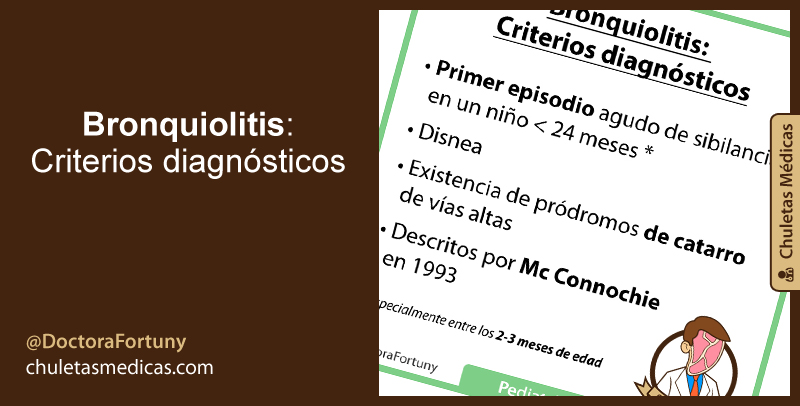Bronquiolitis: Criterios diagnósticos