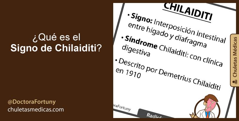 ¿Qué es el  Signo de Chilaiditi?