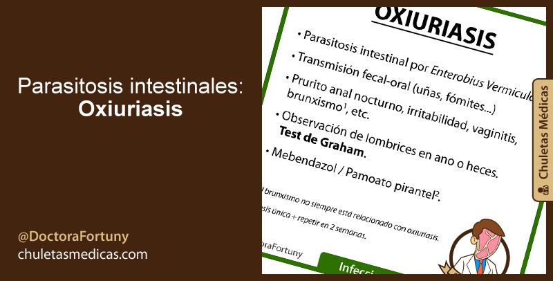 Parasitosis intestinales: Oxiuriasis
