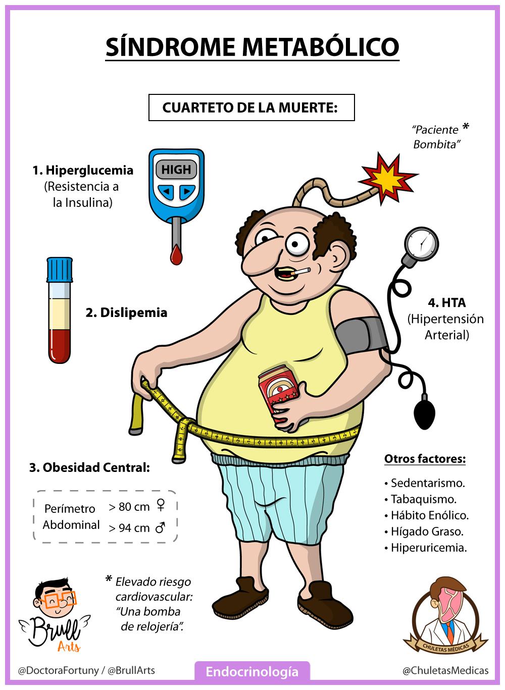 Síndrome Metabólico: Conceptos esenciales Chuleta Brull Arts