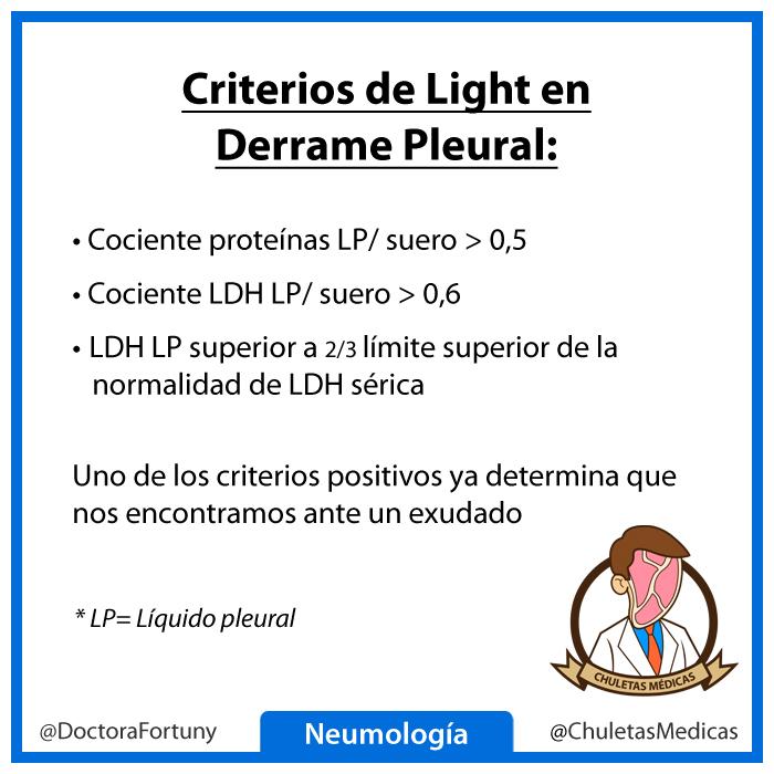 Criterios de Light en Derrame Pleural