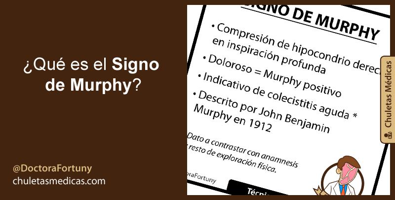 ¿Qué es el Signo de Murphy?