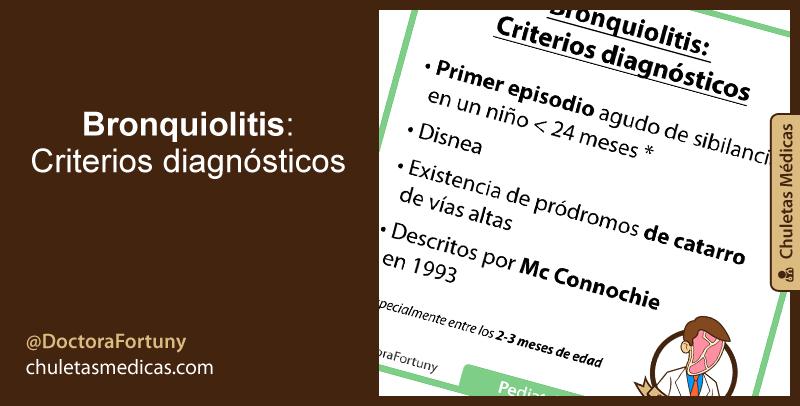 Bronquiolitis: Criterios diagnósticos