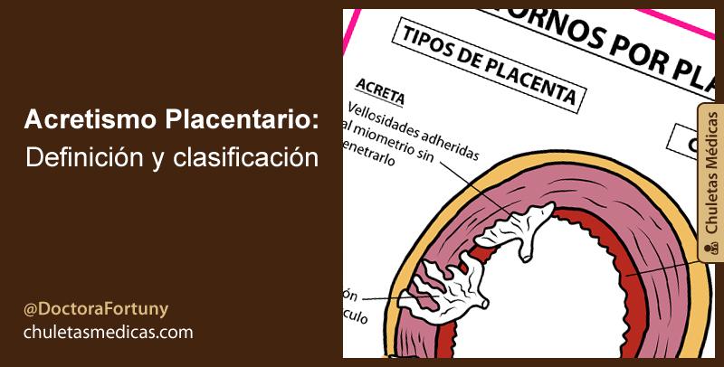 Acretismo Placentario: Definición y clasificación