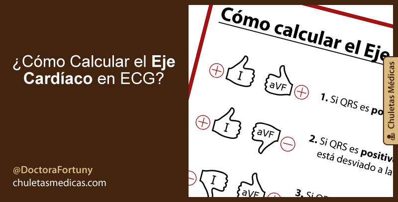 ¿Cómo calcular el Eje Cardíaco en ECG?
