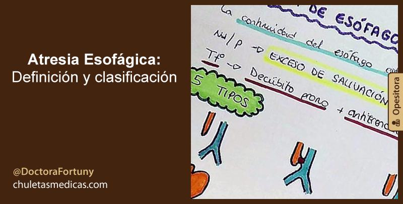 Atresia Esofágica: Definición y clasificación